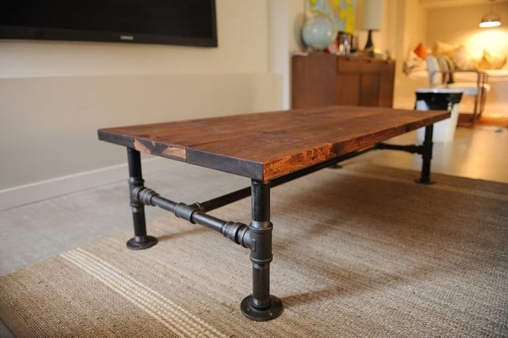 coffee table with pipe legs