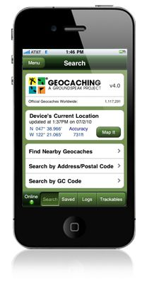 Geocaching App! It is for the iPhone, but can be used on your iPad. Why would I use it on my iPad? Paperless caching since my gps can't! However this is a disappointingly expensive app. A great app, but is currently $10! It allows for me to carry offline infor about all the caches I have saved for hunting. You will need to decide if this high price is worth it or not. This links to geocaching.com and their info on the app with tutorials and a video.