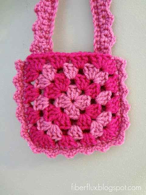Toddler Crochet Purse Pattern : Little Pink Purse (Free Crochet Pattern) Fiber Flux ...
