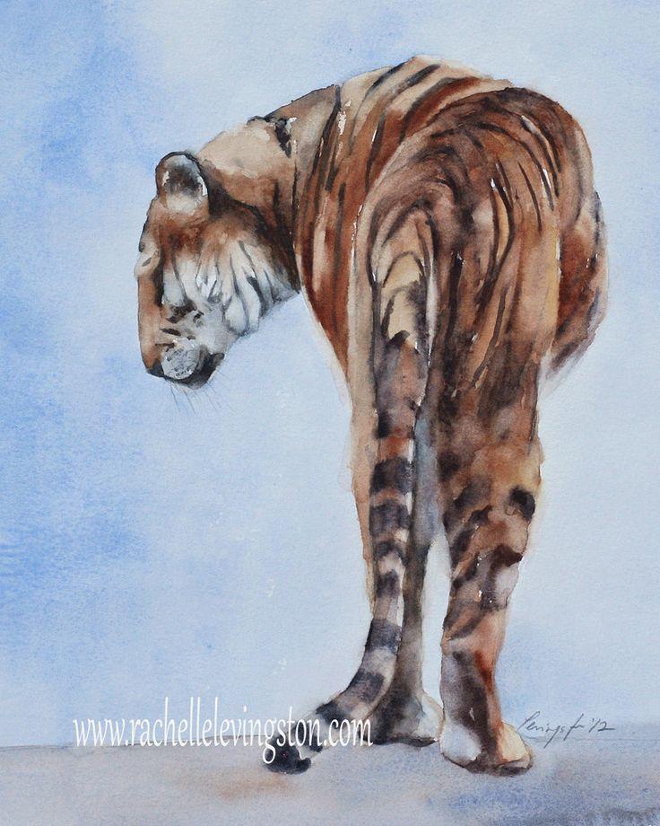 PRINT Tiger PRINT Painting tiger art print by rachellelevingston