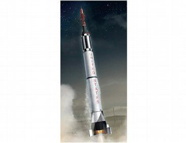 The Dragon Redstone Rocket with Mercury Spacecraft Model Kit in 1/72 scale from the plastic spacecraft model kits range accurately recreates the real life spacecraft. This Dragon spacecraft model requires paint and glue to complete.