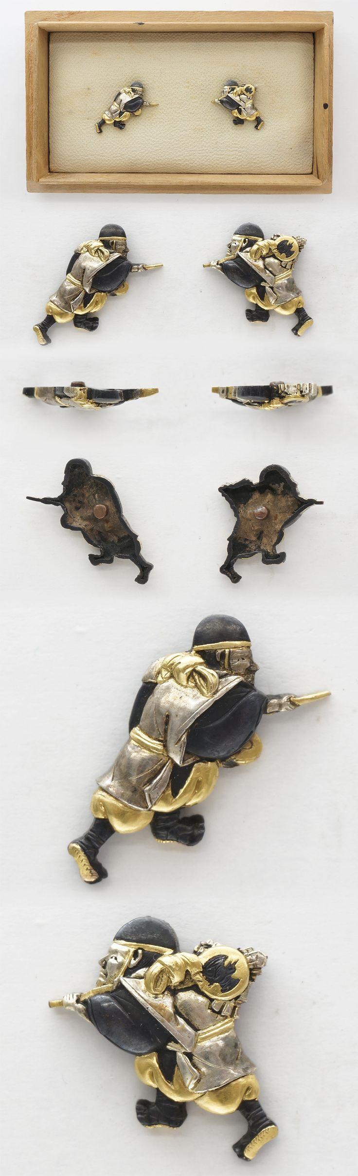 Menuki : mumei street performers | Japanese Sword Shop Aoi-Art.