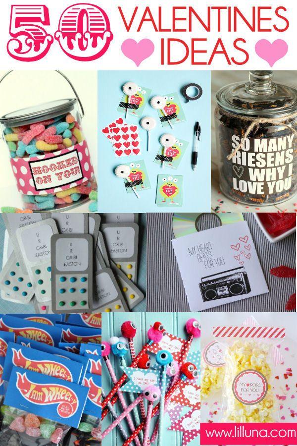 50 Quick, Easy and Inexpensive Valentines Ideas on { lilluna.com } #valentines