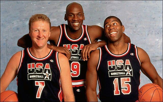All time big three.: Dreams Team, Larry Birds, Michaeljordan, Magic Johnson, Dreamteam, Dream Team, Sports, Magicjohnson, Michael Jordans