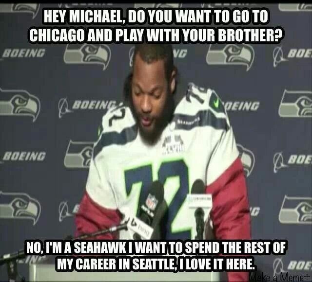 Seattle Seahawk! Michael Bennett!!!!!