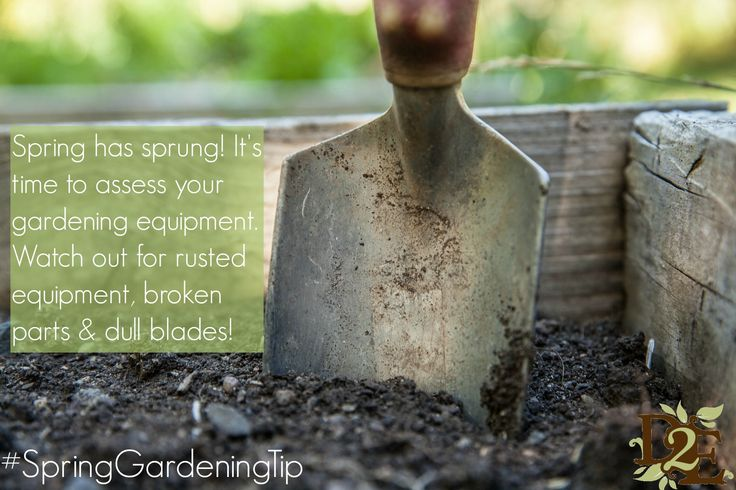 Watch out for bad gardening equipment in the new season.