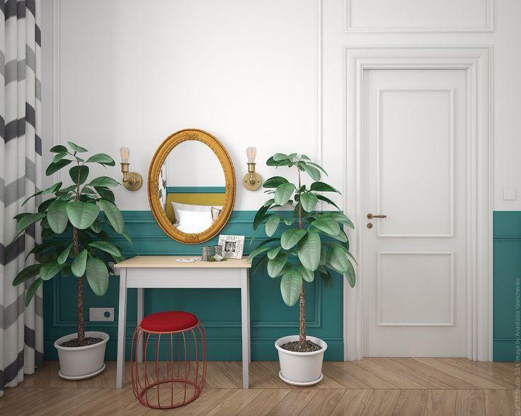 Туалетный столик в спальне в двухкомнатной квартире в сталинском доме.