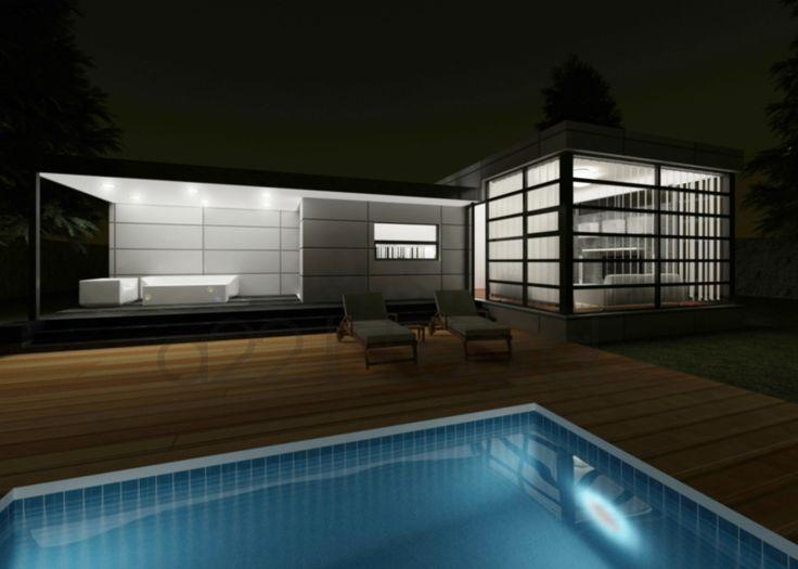Exterior de uno de nuestros diseños de vivienda moderna.