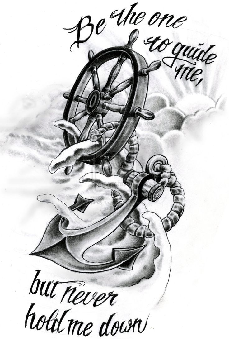 Octopus And Anchor Drawing Tumblr Helm By Crazy Tatts