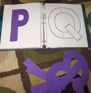 Build a Letter puzzles......adapted from Handwriting Without Tears' wooden pieces.