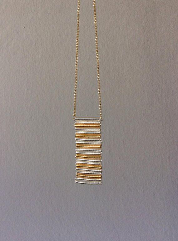 Fringe geometric pendant 24K gold plated 925 by EliaLaNoire