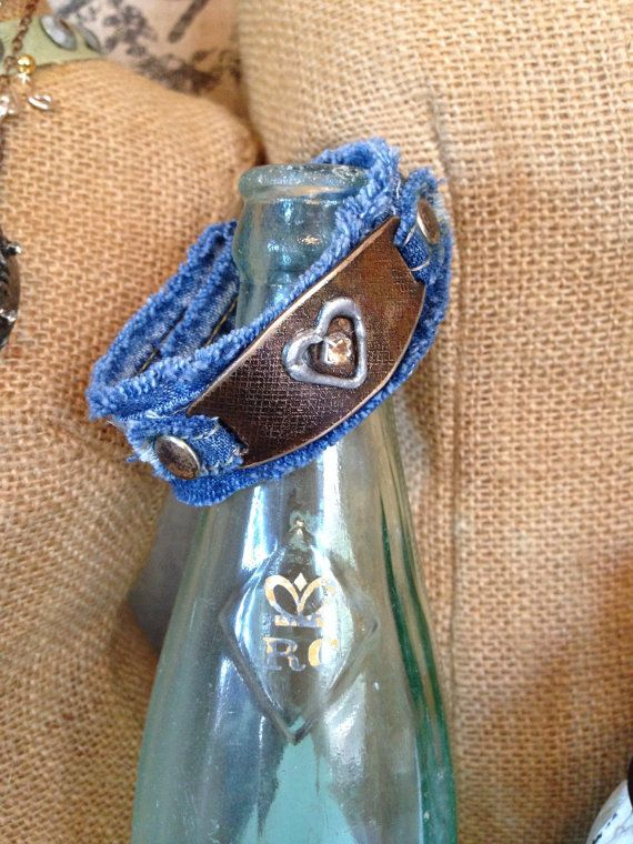 Etched and Soldered Rhinestone and Heart by Forgetmenotkeepsake, $25.00