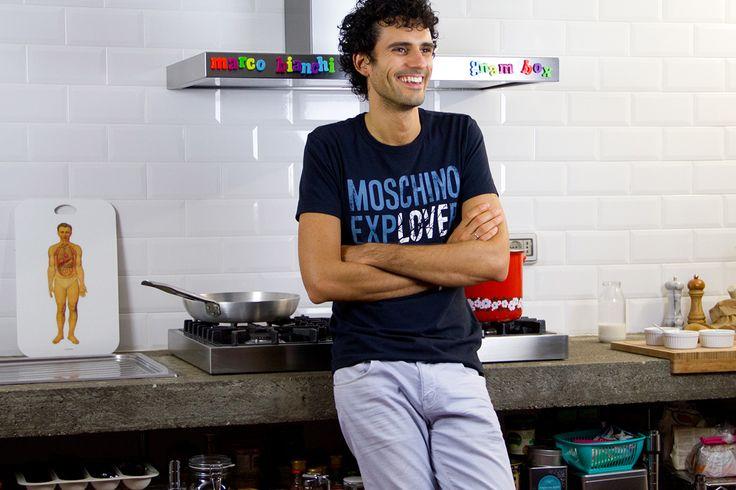 Marco Bianchi ci ha stupito con un insolito dolce. Il cioccopere delizia, un dessert tutto frutta e cioccolato