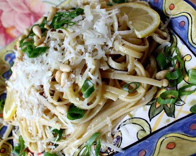 Wonderful Lemon Pasta With Pine Nuts and Pecorino Romano Cheese DIY ...