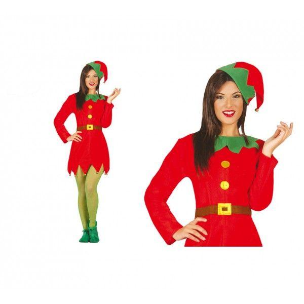 Disfraz de Mujer Elfa. Los elfos, siempre han sido unos duendes encantadores y divertidos. Este disfraz te servirá tanto para los festivales de navidad como para carnavales.
