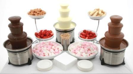 3 x Small Chocolate Fountain Hire - DIY STAFFED