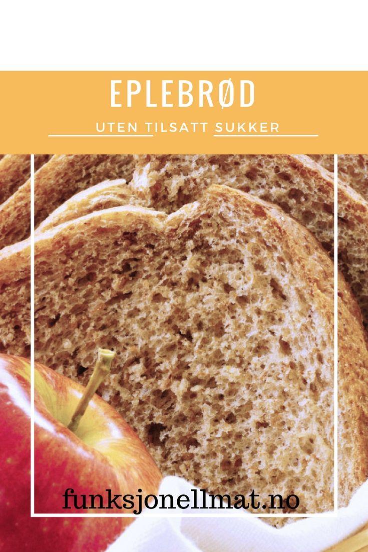 Eplebrød - Funksjonell Mat | Oppskrift brød | Brød og boller | Eltefritt brød | Sunt brød |