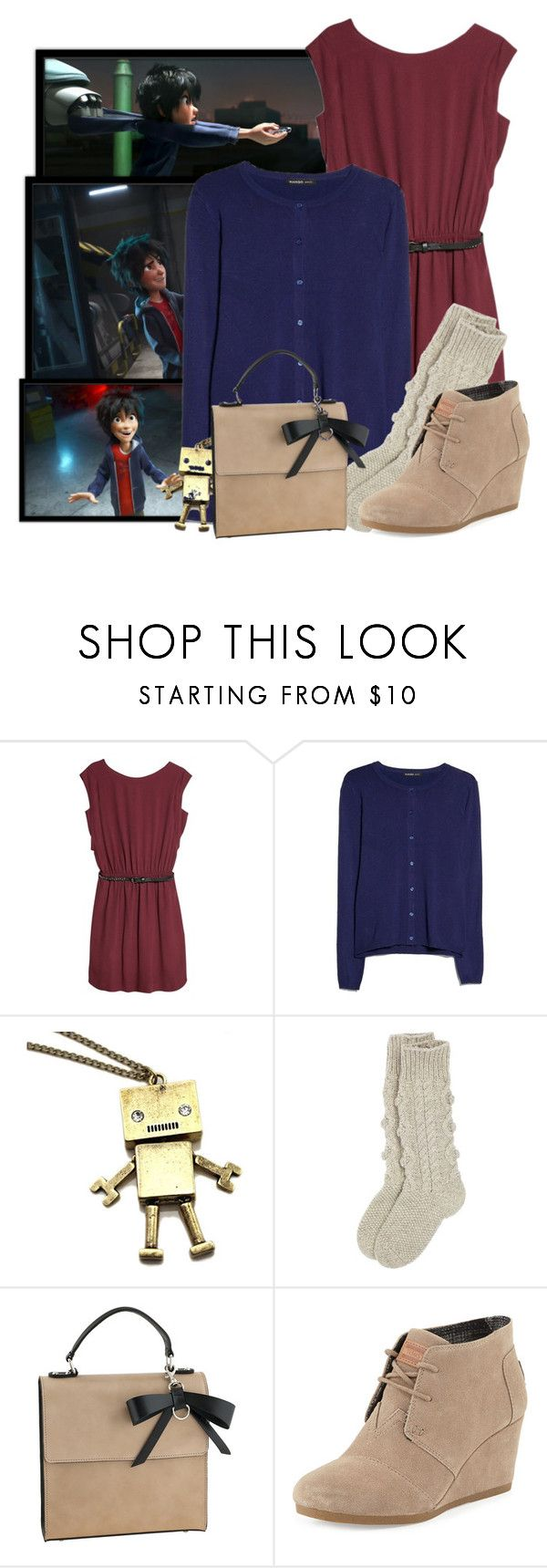 """""""Hiro - Big Hero 6"""" by totallytrue ❤ liked on Polyvore featuring Disney, MANGO and TOMS"""