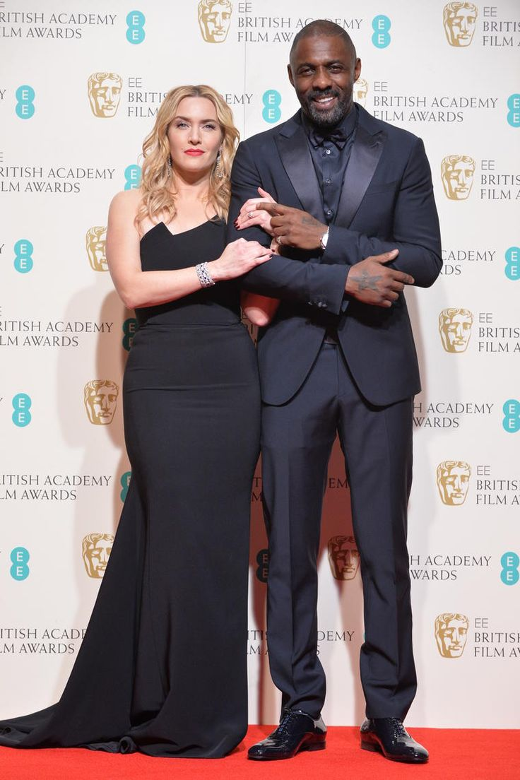 Kate Winslet and Idris Elba, at the #EEBAFTAs 2016