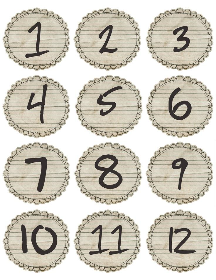 deux planches de chiffres pour vos calendriers de l'Avent...