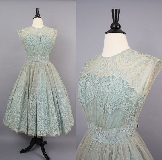 vintage 50s Party Prom Dress / 1950s Robin's by SundayInSavannah