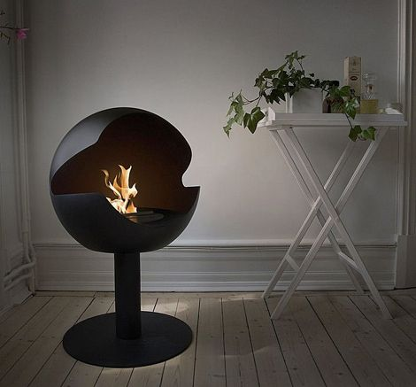 It's a very versatile piece that will make a great addition to any living room. It has modern and simple design so it is not very hard to integrate it in the interior design of your house #fireplaces