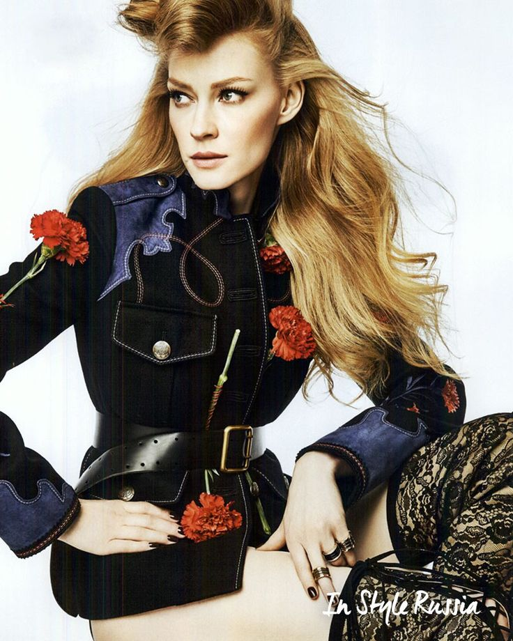 Embracing a romantic military look for fall, as seen in InStyle Russia.