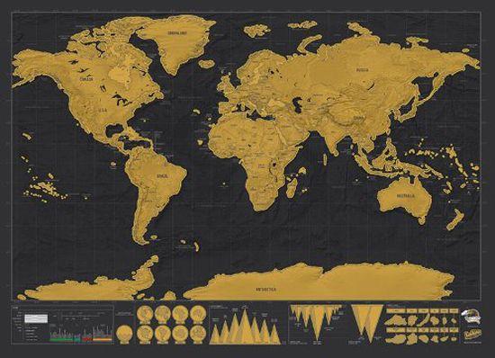 Mapa Raspable Negro 82 x 60 cm.