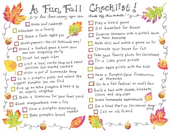 Fall Checklist - ok, I wont do everything on here, but theres some good ideas :D