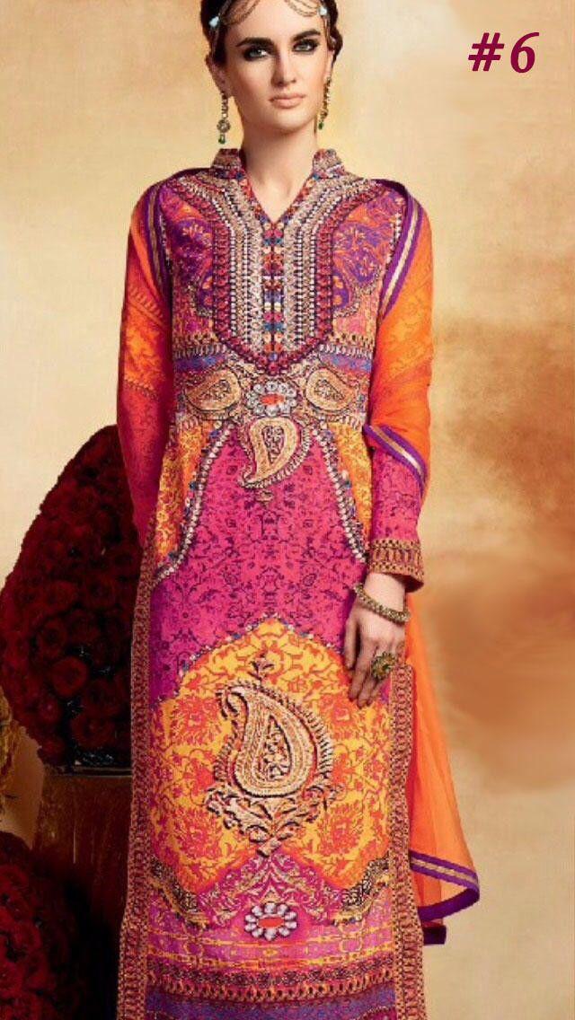 Scintillating Orange and Pink Designer Silk Kurti