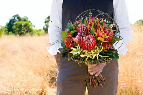Australian natives #wedding #flowers