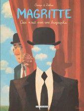 Fantastique – Art. Charles s'offre le chapeau melon de Magritte, le voilà pourvu d'une mission : comprendre l'artiste. Sans quoi il ne pourra retirer le chapeau. On voyage dans la vie de Magritte, et dans celle de Charles, qui s'interroge sur son parcours. Un album court, décalé, très réussi graphiquement, qui détourne les toiles du peintre et ns plonge au cœur de son œuvre. C'est surréaliste, comme l'artiste, avec un final lui aussi décalé, qui laisse au lecteur imaginer sa suite.