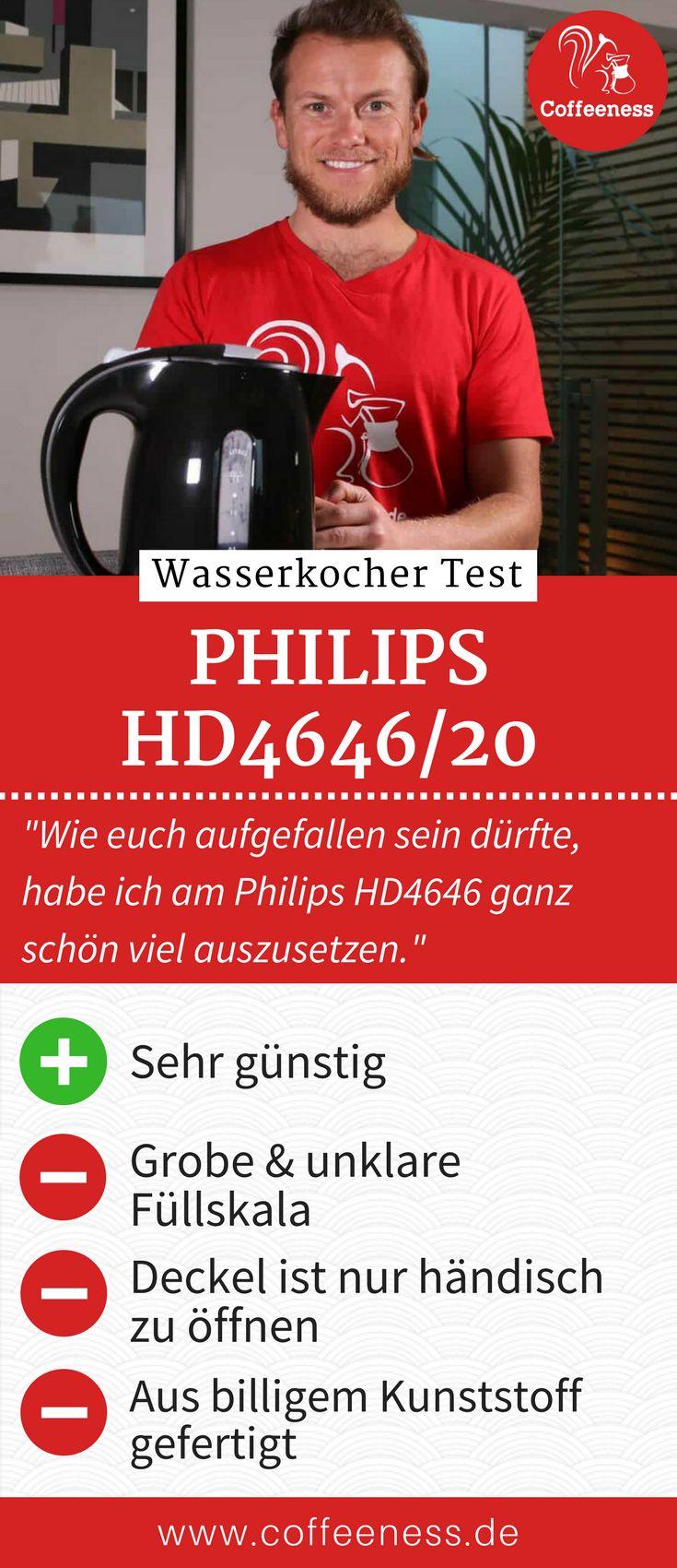 Wie euch aufgefallen sein dürfte, habe ich am Philips HD4646 ganz schön viel auszusetzen. Auf der anderen Seite finde ich aber, dass das bei einem Preis von 20 Euro irgendwie zu erwarten war. Ja, der Kocher kocht, ja, er tut das auch recht schnell. Welche Wasserkocher für wenig Geld eine deutlich bessere Qualität bieten, erkläre ich euch in meinem ausführlichen Wasserkocher Test auf www.coffeeness.de. #Wasserkocher #Coffeeness #Küche