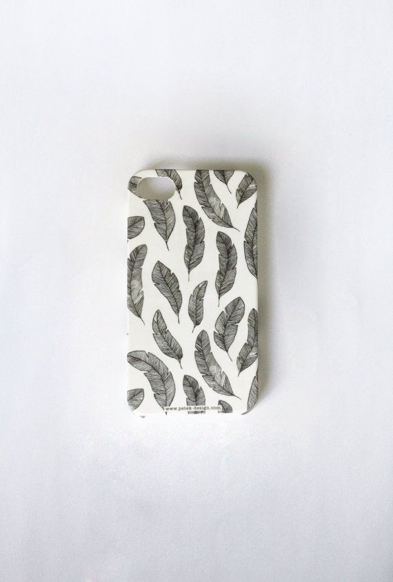 FREE SHIPPING Feathers Phone Case. Whimsy black and by petekdesign, $22.00