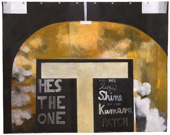 Colin McCahon - May his light shine (Tau Cross) - Chartwell Collection of contemporary art