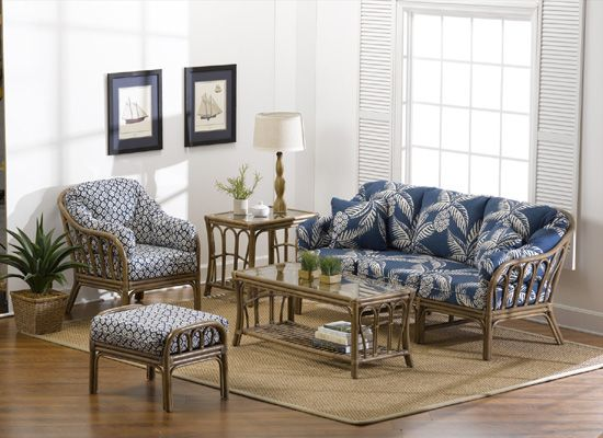 White Rattan and Wicker Living Room Furniture Sets | Living Room Chairs and Tables