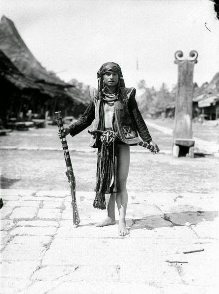 Sumatra, Indonesia, Nias warrior
