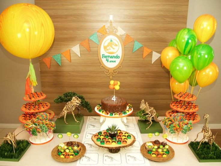Festa de aniversário com tema dinossauro   Baby & Kids   It Mãe