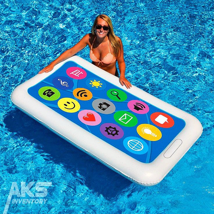 Finally, a waterproof smart phone. Have some fun this summer with the Smart Phone Float toy, a colorful swimming pool raft that's cute but durable.