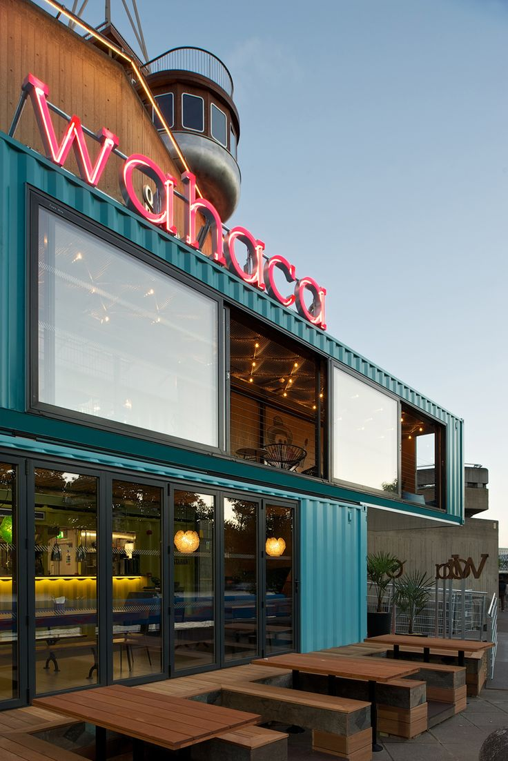 Wahaca southbank shipping container restaurant