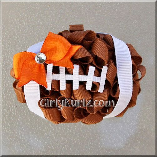 Hey, I found this really awesome Etsy listing at http://www.etsy.com/listing/158864358/football-hair-bow-football-bow-nfl-hair