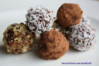 Gezond leven van Jacoline: Chocolade truffels en reep
