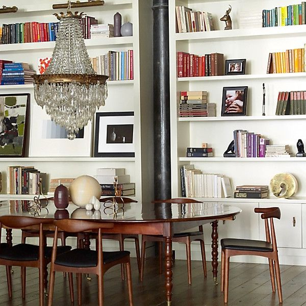 Inside the Home of DwellStudio s Founder  Soho LoftDining RoomsModern. 44 best Bookshelves  Kitchen   Dining Room images on Pinterest