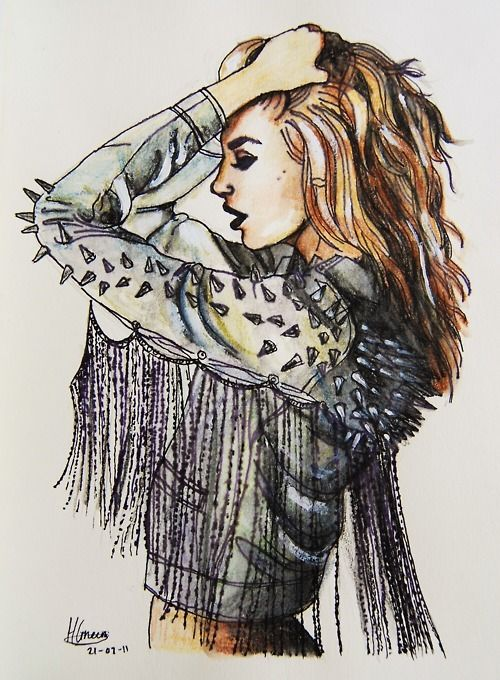 fashion illustration that looks very military and i love the style of the illustration. very poetic
