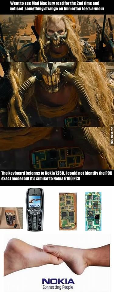 The #Nokia legacy continues even in dark times! Anybody else who spotted this details in Mad Max​ Fury Road?