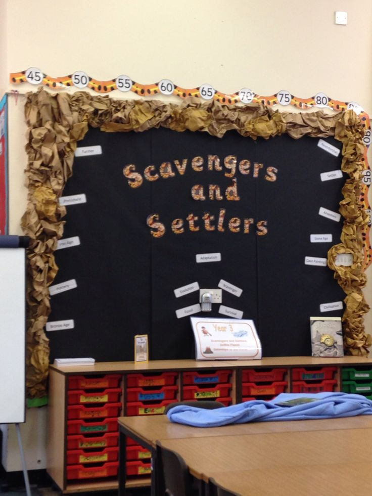 Classroom Setting Ideas ~ Scavengers and settlers ipc stoneage britain display