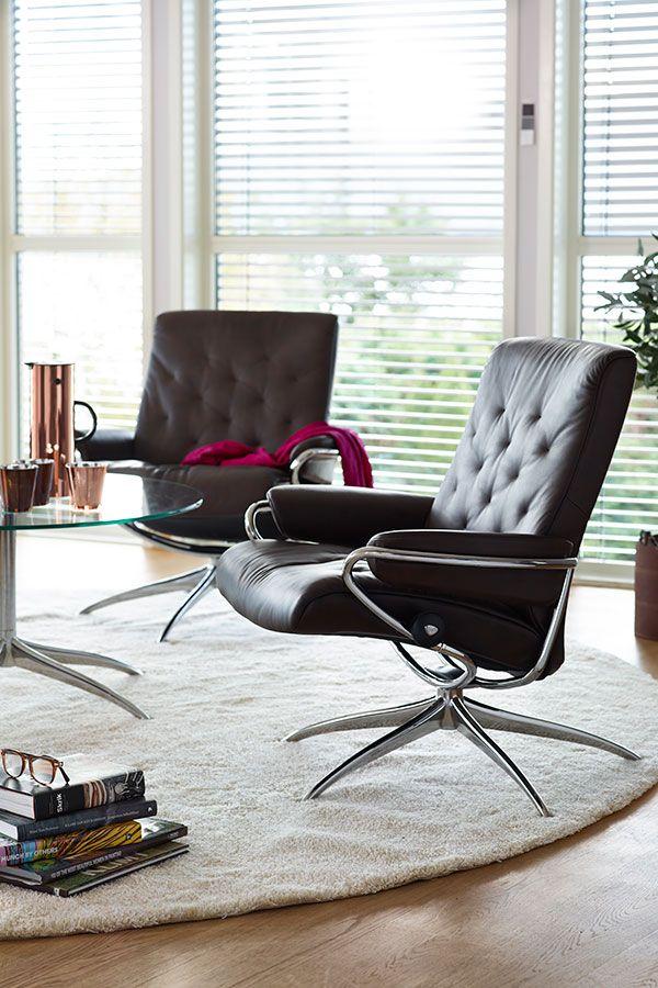 Design stoler | Stressless Metro lav rygg lenestol | Hvilestoler