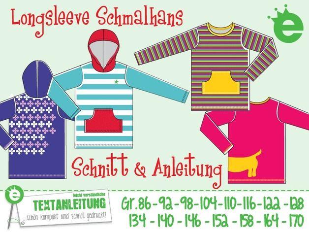 *Schmales Longsleeve für kleine und große Kinder*  Schmalhans, das Unisex-Shirt eigent sich super als Basicschnitt für alle etwas schlankeren Kinder:  Ob lang- oder kurzärmelig, mit oder ohne...