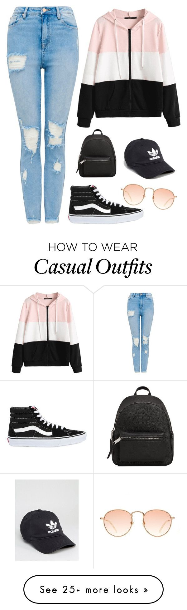 """Casual"" by madik3535 on Polyvore featuring Vans, MANGO and adidas"