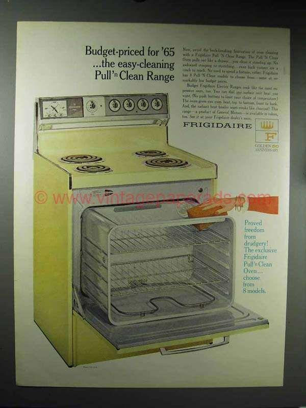 Bigee0556 1965 Frigidaire Model Rd 39j Pull N Clean Range A Vintage Stoves Inexpensive Furniture Antique Kitchen Stoves